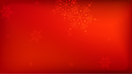 Snowflakes Red Christmas Background. Vector Falling Snowflakes on a Red Background. Element of Design with Snow for a Postcard, Invitation Card, Banner, Flyer. Vettoriali