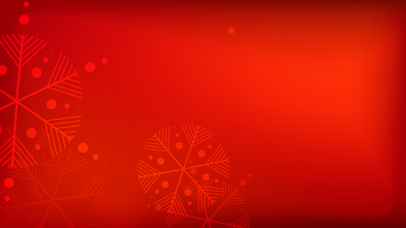 Snowflakes Red Christmas Background. Element of Design with Snow for a Postcard, Invitation Card, Banner, Flyer. Vector Falling Snowflakes on a Red Background. Vektorgrafik