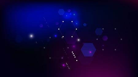 Blockchain Technology Background. Blue Digital Pattern. Bussines Concept Banner. Blockchain Vector Concept Illustration. Vector  Technology Blockchain Background.