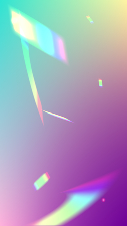 Iridescent Background. Holographic Light Glitch Effect. Vector Rainbow Gradient with Sunshine Glare.   Mesh Holographic Foil. Trendy Hologram Vector Background. Creative Festive Backdrop. Illusztráció