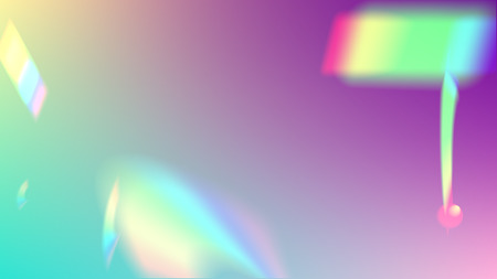 Iridescent Background. Holographic Light Glitch Effect. Vector Rainbow Gradient with Sunshine Glare.   Mesh Holographic Foil. Trendy Hologram Vector Background. Creative Festive Backdrop. 向量圖像