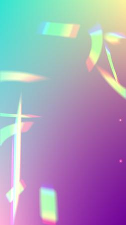 Vector Rainbow Gradient with Sunshine Glare.  Iridescent Background. Holographic Light Glitch Effect.   Mesh Holographic Foil. Trendy Hologram Vector Background. Creative Festive Backdrop. Stock Illustratie