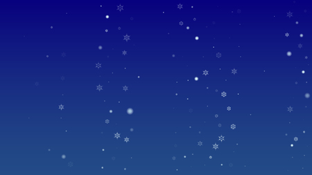 Falling Snowflakes on a Blue Background. Element of Design with Snow for a Postcard, Invitation Card, Banner, Flyer. Vector