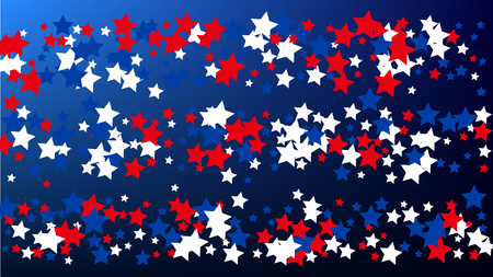 USA Independence Day. Colours of American Flag. . Invitation Background. Banner, Christmas and New Year card, Postcard, Packaging, Textile Print.