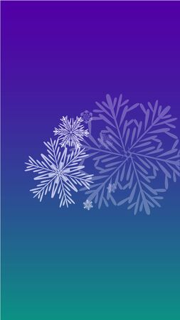 Beautiful Christmas Background with Falling Snowflakes.  Element of Design with Snow for a Postcard, Invitation Card, Banner, Flyer.  Vector Falling Snowflakes on a Blue Winter Background  イラスト・ベクター素材
