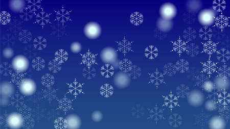 Falling Snowflakes on Christmas Background.  Element of Design with Snow for a Postcard, Invitation Card, Banner, Flyer.  Vector Falling Snowflakes on a  Winter Background