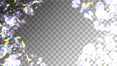 Shiny Poster. Holographic Design. Wedding Blue Treasure. Bright Crystal Card. Rainbow Shiny Poster. Glamour Realistic Backdrop. Brilliance Simple Wallpaper. 矢量图像