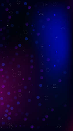 Blockchain Technology Background. Futuristic Cyberspace with Hexagon Fractals. Digital Tehnology Backdrop. Vertical Template BG for Mobile Device. Vector  Technology Blockchain Background.