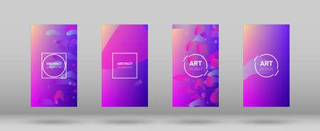Fluid Shapes. Banner Design Composition. Horizontal Orientation. Modern Geometric Pattern. Fluid Shapes.