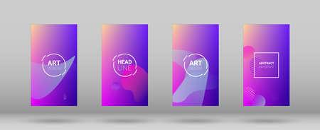 Fluid Shapes. Modern Geometric Pattern. Horizontal Orientation. Banner Design Composition. Fluid Shapes. 矢量图像