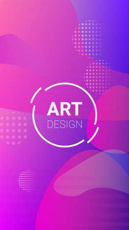 Gradient Background. Modern Geometric Pattern. Banner Design Composition. Horizontal Orientation. Gradient Background. 矢量图像