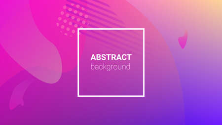 Gradient Background. Modern Geometric Pattern. Banner Design Composition. Horizontal Orientation. Gradient Background. 向量圖像