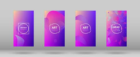 Fluid Shapes. Banner Design Composition. Modern Geometric Pattern. Horizontal Orientation. Fluid Shapes. 免版税图像 - 156771632