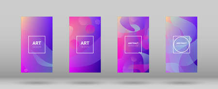 Fluid Shapes. Banner Design Composition. Modern Geometric Pattern. Horizontal Orientation. Fluid Shapes.