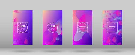 Fluid Shapes. Horizontal Orientation. Banner Design Composition. Modern Geometric Pattern. Fluid Shapes. 免版税图像 - 156771769