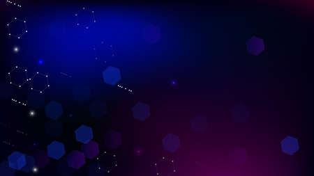 Blockchain Technology Background. Bussines Concept Banner. Blue Digital Pattern. Blockchain Vector Concept Illustration. Vector  Technology Blockchain Background. 向量圖像