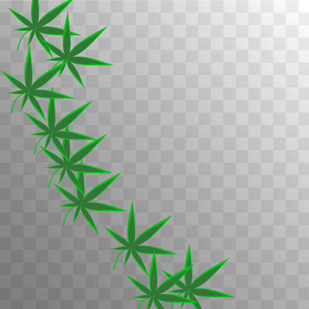 Organic Vector. Herbal Design. Yellow Grass Illustration.  Abstract  Hemp Ganja Concept. White Agriculture Production.  Organic Vector. Transparent Cannabis Collection. 向量圖像