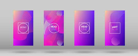 Fluid Shapes. Modern Geometric Pattern. Banner Design Composition. Horizontal Orientation. Fluid Shapes.