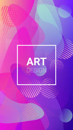 Gradient Background. Banner Design Composition. Horizontal Orientation. Modern Geometric Pattern. Gradient Background.