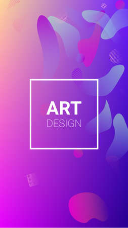 Fluid Shapes. Banner Design Composition. Horizontal Orientation. Modern Geometric Pattern. Fluid Shapes.