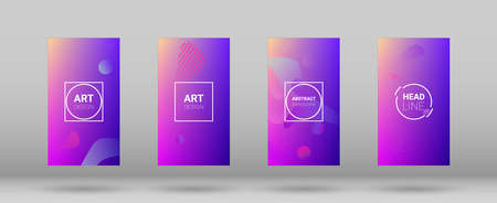 Fluid Shapes. Modern Geometric Pattern. Horizontal Orientation. Banner Design Composition. Fluid Shapes. 矢量图像
