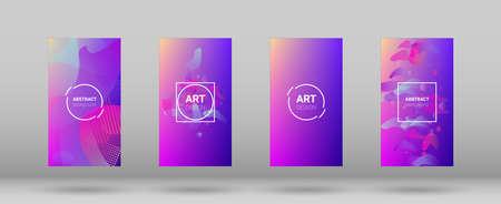 Fluid Shapes. Banner Design Composition. Modern Geometric Pattern. Horizontal Orientation. Set of Colorfull Background. 免版税图像 - 156783596