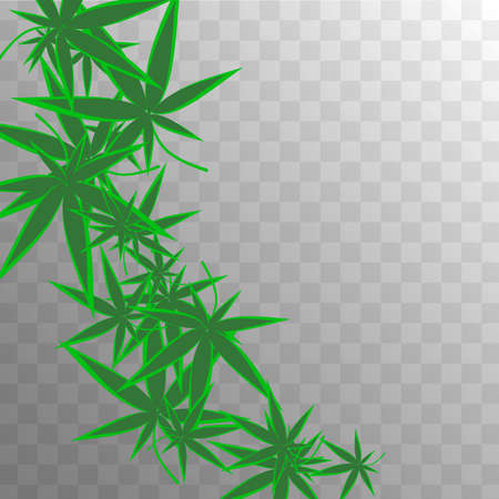 Organic Production. Ganja Texture. White Hemp Illustration.  Abstract  Grass Herbal Pattern. Yellow Medicinal Production.  Organic Production. Green Agriculture Background.