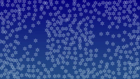 Beautiful Christmas Background with Falling Snowflakes.  Element of Design with Snow for a Postcard, Invitation Card, Banner, Flyer.  Vector Falling Snowflakes on a Blue Winter Background 矢量图像