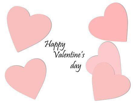 Valentines day card design.