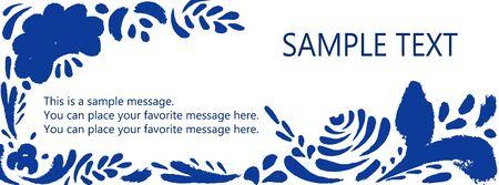 Template banner for websites or social network. Vettoriali