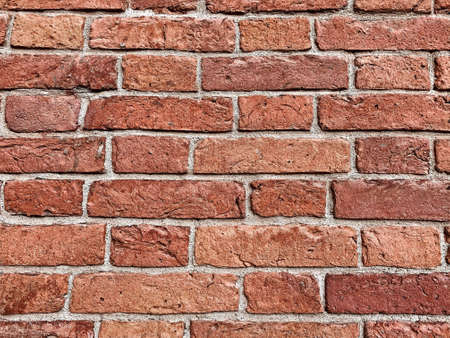 Red brick texture wall. Horizontal background