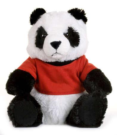 sweetness: Panda toy isolated on white background Stock Photo