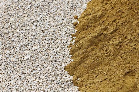 mucchio di pietrisco e sabbia