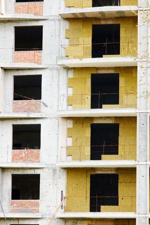 Isolamento termico di un edificio nuovo Archivio Fotografico