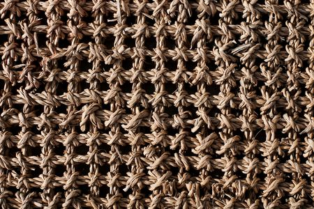 rug weaving: Wicker work rug seamless texture with grid structure
