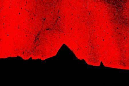 Abstract grungy graffiato struttura granulare rosso e nero, con picchi