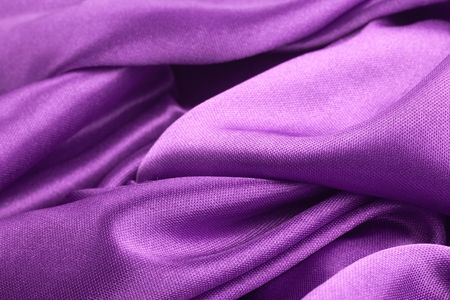 Purple textile texture with dark creases and selective focus Stock Photo - 6767803