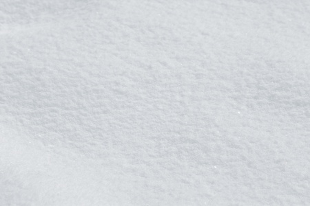 Closeup of seamless snow texture with selective focus Stock Photo