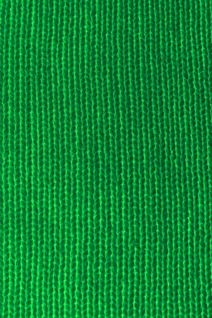 Vertical closeup of seamless green knitted fabric texture Stock Photo - 8750989