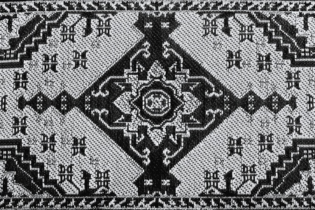Closeup of stylized brown toned seamless oriental embroidery pattern Stock Photo - 9036514