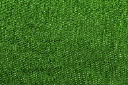 closeup of seamless green denim fabric texture Stock Photo