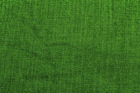 closeup of seamless green denim fabric texture Stock Photo
