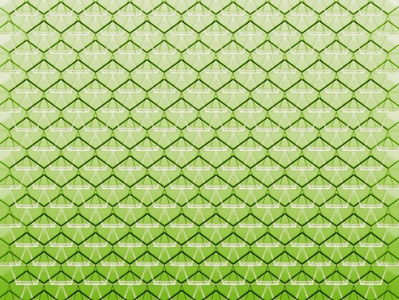 tessellated: seamless abstract green graphic cell shapes with white gradient on top Stock Photo
