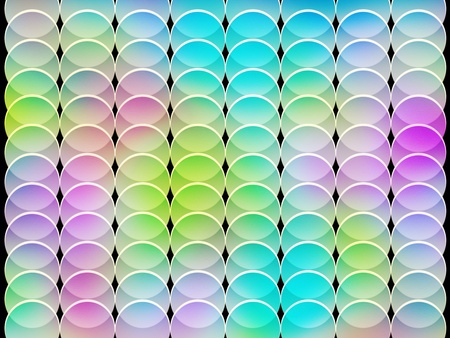 seamless abstract multicolored graphic textured circle shapes on black Stock Photo - 9108306