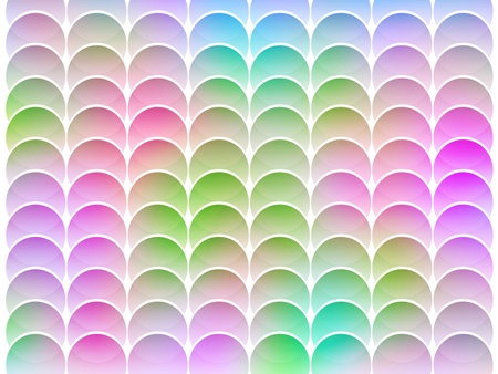 seamless abstract multicolored graphic textured circle shapes on white photo