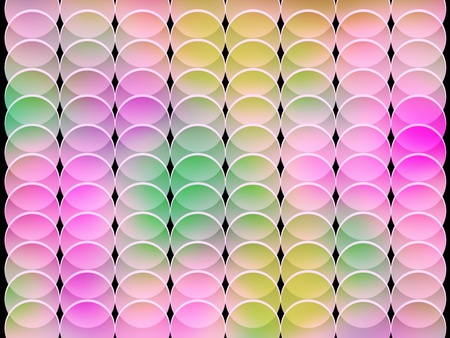 seamless abstract multicolored pink toned graphic circle textured shapes on black photo