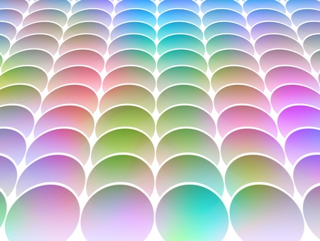 seamless abstract multicolored graphic circle textured shapes with perspective photo