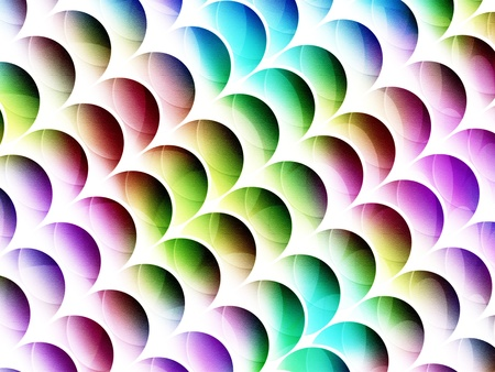 desaturated multicolored graphic circle textured shapes with diagonal arrangement photo