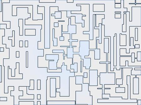 interconnected: Ilustraci�n abstracta de patrones de elementos del sistema interconectado