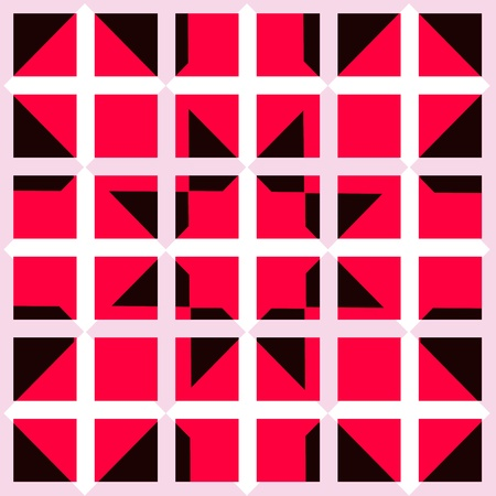 crossover: Seamless white squared grid with red and black graphic pattern